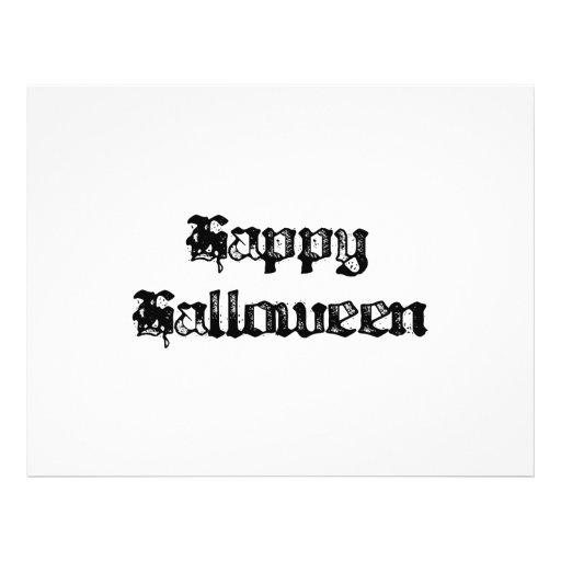 Timbre gothique Halloween heureux Prospectus