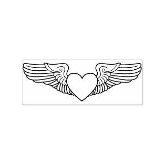 Timbre militaire de conjoint d'ailes d'amoureux