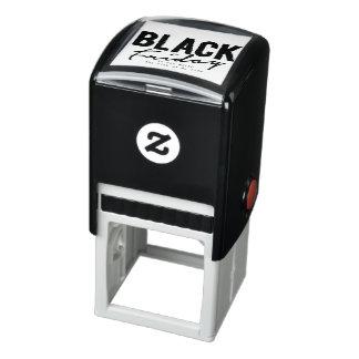 timbre noir de vendredi tampon auto-encreur