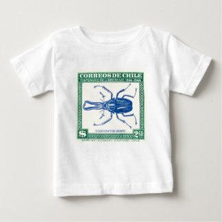 Timbre-poste 1948 de scarabée de mâle du Chili T-shirt Pour Bébé