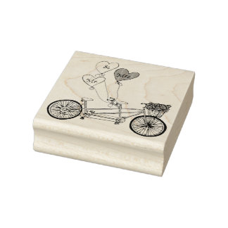 Timbre tandem de vélo d'amour