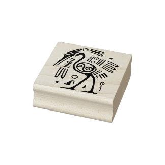 timbre tribal d'art d'autruche