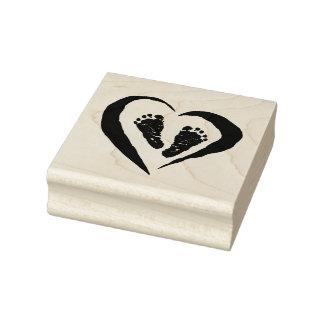 Timbres en bois d'art/coeur avec des pieds