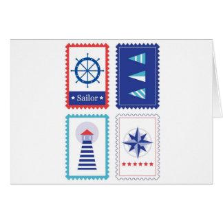 Timbres postaux de jument : Conception originale Carte De Vœux