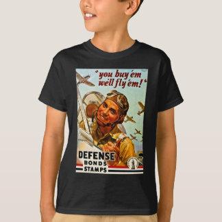 Timbres vintages de liens de défense de la t-shirt