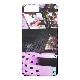 Times Square à New York City (rose) Coque iPhone 8 Plus/7 Plus