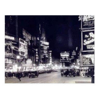 Times Square, cru de New York City Cartes Postales