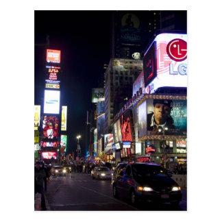 Times Square la nuit à Manhattan, New York Carte Postale