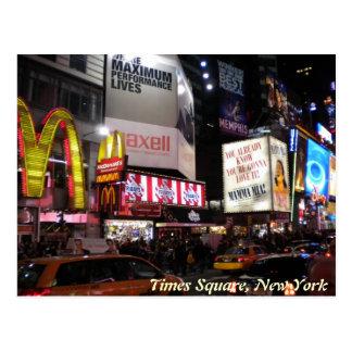 Times Square par la carte postale de nuit