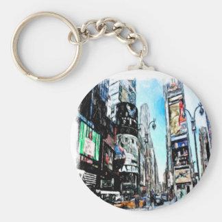 Times Square Porte-clé Rond