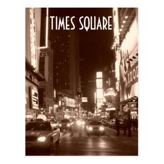 Times Square sépia Cartes Postales