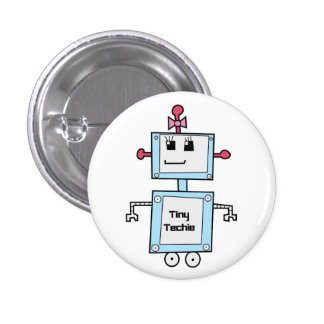 """TinyTechie 1 1/4"""" bouton Badge Rond 2,50 Cm"""