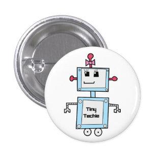 "TinyTechie 1 1/4"" bouton Badges Avec Agrafe"