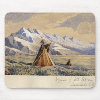 Tipi des Indiens d'Ute, Salt Lake City Tapis De Souris