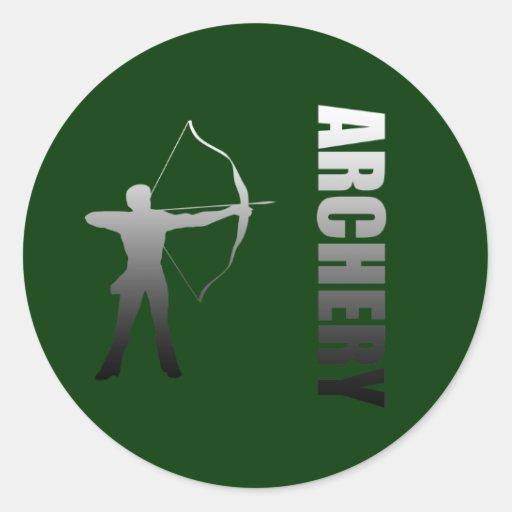 Tir à l'arc Londres aux archers de Rio de Janeiro Autocollant Rond