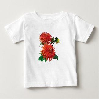 Tir chaud de dahlia t-shirt pour bébé