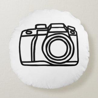 Tir d'appareil-photo coussins ronds