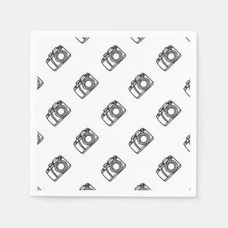 Tir d'appareil-photo serviettes en papier