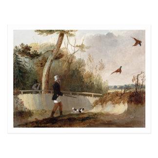 Tir de faisan (huile sur la toile) carte postale