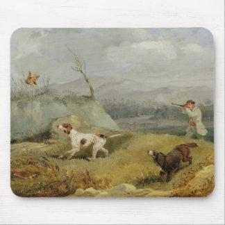 Tir de grouse (huile sur la toile) tapis de souris