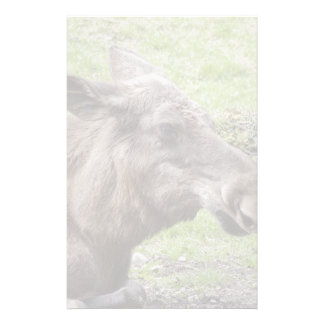 Tir de profil de vache à orignaux papier à lettre personnalisé