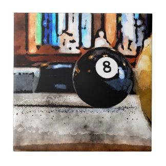 Tir pour la boule huit petit carreau carré