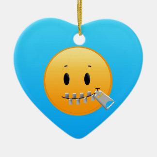 Tirette Emoji Ornement Cœur En Céramique