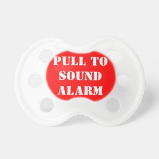 Tirez à la tétine saine de bébé d'alarme