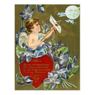 Tirez la carte postale de Valentines de lune
