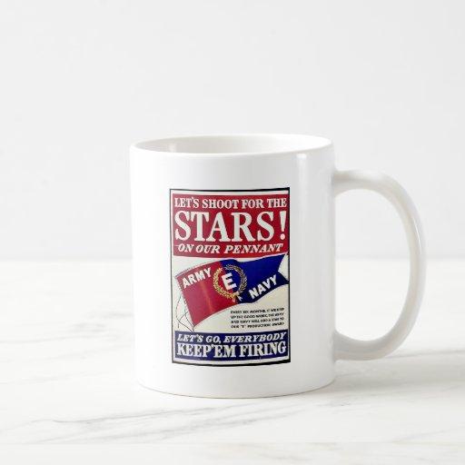 Tirons pour les étoiles sur notre fanion tasse à café