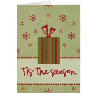 Tis la carte de note de saison