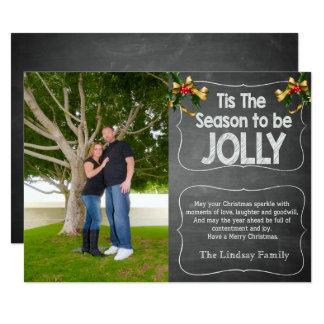Tis le carte photo de vacances de saison carton d'invitation  13,97 cm x 19,05 cm