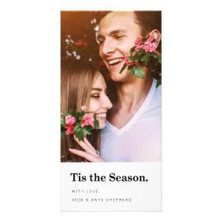 Tis le carte photo moderne de vacances de saison photocartes personnalisées