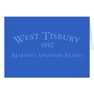Tisbury occidental a incorporé la carte 1892