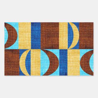 tissu #2 sticker rectangulaire
