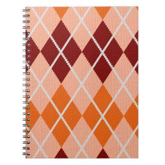 Tissu à motifs de losanges réaliste carnets à spirale