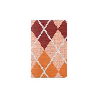 Tissu à motifs de losanges réaliste protège-carnet de poche