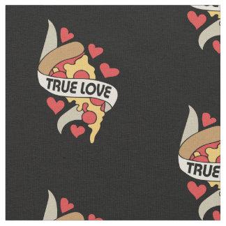 Tissu Amour vrai de partie de pizza