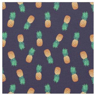 Tissu Ananas sur la marine