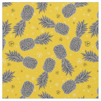 Tissu Ananas sur l'or