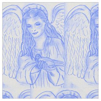 Tissu Ange paisible dans le bleu