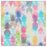 Tissu Aquarelle tropicale de motif hawaïen d'ananas