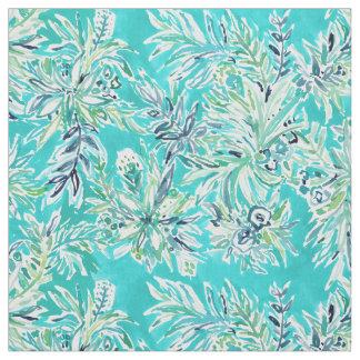 Tissu Aquarelle tropicale FROIDE de Hawaïen d'Aqua de