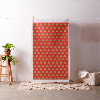 Tissu arrière - plan de rouge de pinaaple