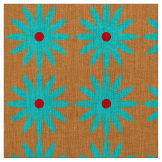 Tissu Arrière - plan orange-clair de motif floral bleu