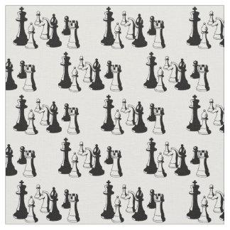 Tissu Art vintage #2 de pièces d'échecs