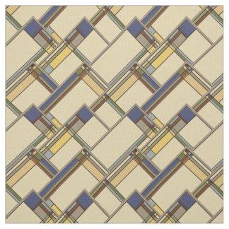 Tissu Arts et motif géométrique d'automne de métiers