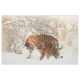 Tissu Bébé de famille de tigre