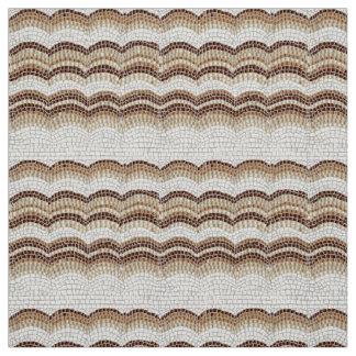 Tissu beige de popeline de polyester de mosaïque