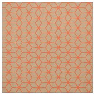 Tissu : Beige marocain et orange d'étoile
